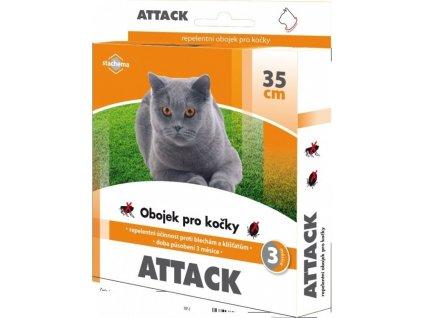 Obojek antiparazitární Attack 35cm, kočka