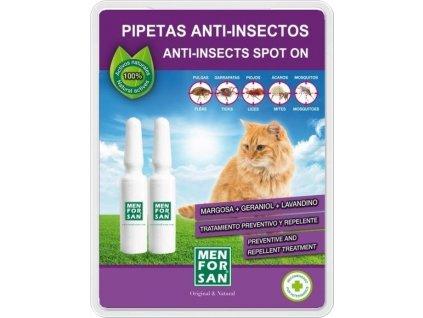 Pipety antiparazitní Menforsan Spot on 2x1,5ml, kočka