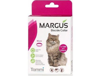 Obojek antiparazitární Margus Biocide 42cm, kočka