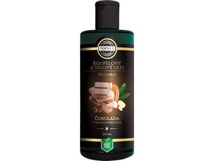 Koupelový olej - Čokoláda v mandlovém oleji 200ml, TOPVET