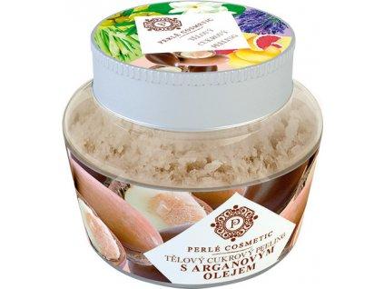 Cukrový peeling - S arganovým olejem Perlé Cosmetic, 200g
