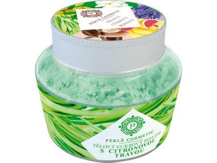 Cukrový peeling - S citronovou trávou Perlé Cosmetic, 200g