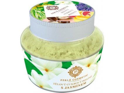 Cukrový peeling - S jasmínem Perlé Cosmetic, 200g