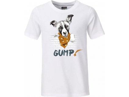 Tričko GUMP - pánské L, bílé