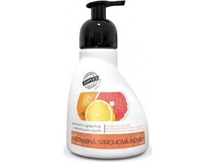 Sprchová pěna - Pomeranč a grapefruit s rakytníkovým olejem Perlé Cosmetic, 300ml