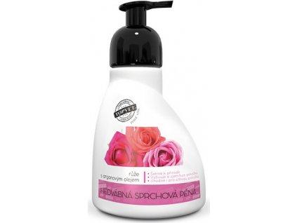 Sprchová pěna - Růže s arganovým olejem Perlé Cosmetic, 300ml