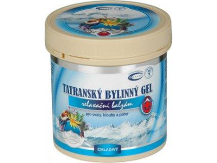 Gel tatranský bylinný - chladivý 250ml, TOPVET