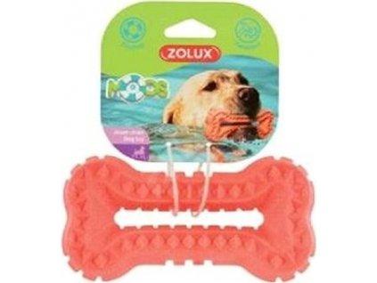 Hračka pro psy BONE MOOS TPR Zolux, 16cm, lososová
