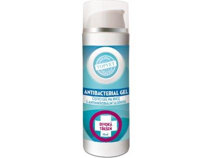 Dezinfekční antimikrobiální gel na ruce, 62% lihu - Divoká třešeň, 50ml, TOPVET