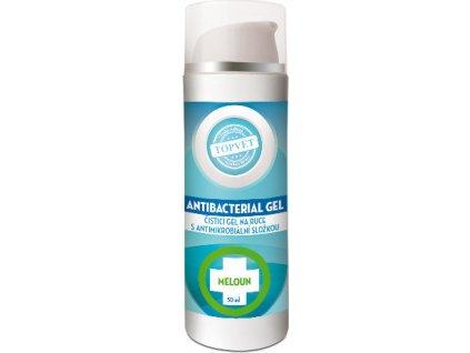 Dezinfekční antimikrobiální gel na ruce, 62% lihu - Meloun, 50ml, TOPVET