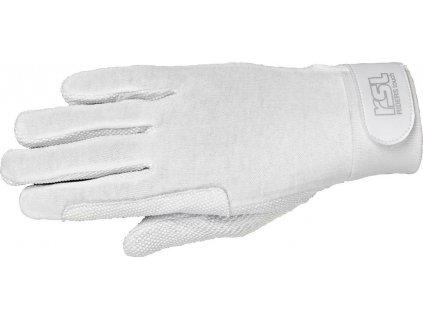 Rukavice jezdecké bavlněné Classic 2.0 RSL, bílé