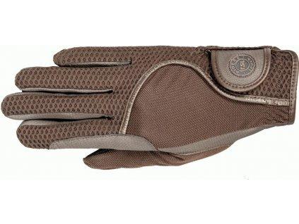 Rukavice jezdecké London RSL, brown/brown