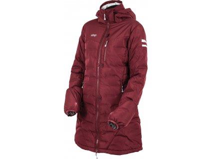 Kabát zimní jezdecký Ice UHIP, dívčí, zinfandel red