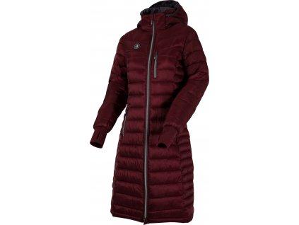 Kabát jezdecký péřový 365+ UHIP, dámský, zinfandel red