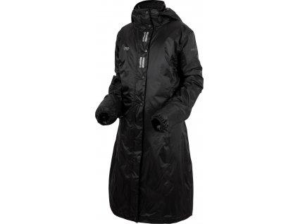 Kabát jezdecký nepromokavý Regular Sport UHIP, dětský, černý