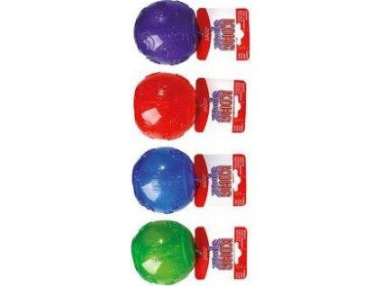 Hračka pes KONG Míč pískací L 8cm mix barev