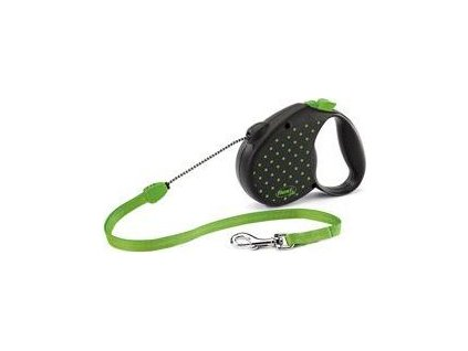 Vodítko Color Dots Flexi, M lanko, 5m/20kg, green