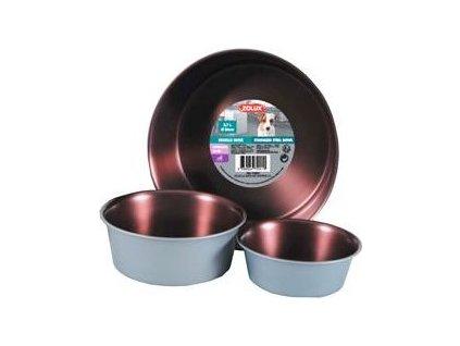 Miska nerezová protiskluzová COPPER Zolux, 2,7 l