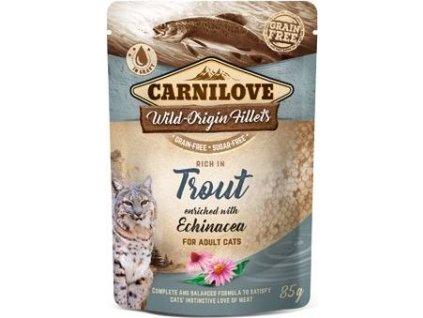 Kapsička pro kočky Carnilove Pouch Trout Enriched & Echinacea, 85g