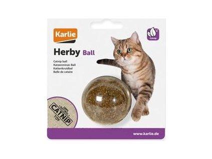 Hračka kočka Koule s šantou kočičí 5cm KAR