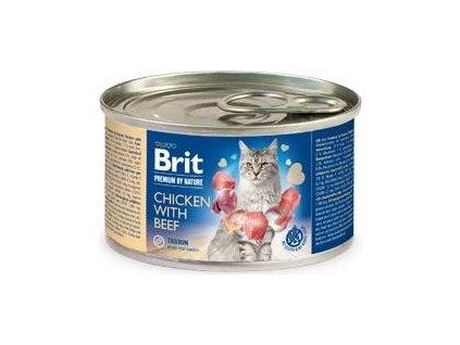 Brit Premium Cat by Nature konz Chicken&Beef 200g