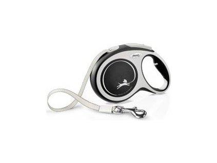 Vodítko Comfort Flexi, L pásek, 8m/50kg, černé