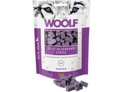 WOOLF pochoutka soft blueberry strips 100g