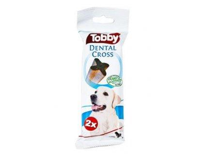 TOBBY pochoutka dentální DENTAL CROSS L 100g 2ks