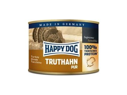 Happy Dog konzerva Truthahn Pur krůtí 200g