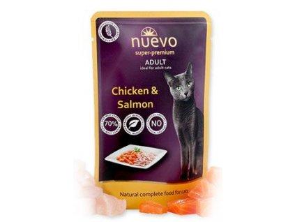 Kapsička pro kočky Nuevo adult kuře a losos, 85g
