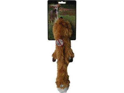 Hračka Liška pískací Skinneeez, 38cm