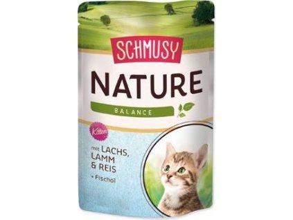 Kapsička Schmusy Cat Nature Menu Junior losos+jehně, 100g