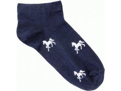Ponožky nízké s koníky USG, pár, navy