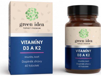 Vitaminy D3 a K2, 60tbl, TOPVET