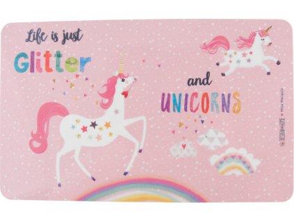 Podložka snídaňová Glitter&Unicorn PFIFF, pink