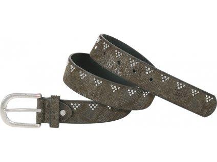 Pásek se vzorem hadí kůže Zara USG, dámský, olive