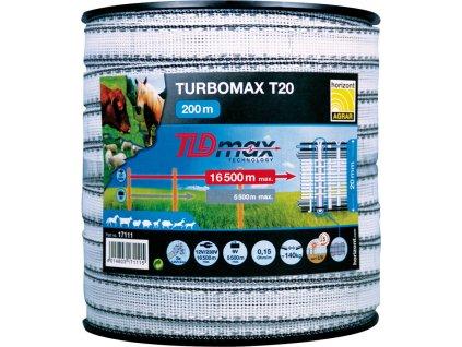 Páska k elektrickému ohradníku Turbomax T20, 200m