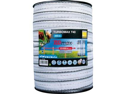 Páska k elektrickému ohradníku Turbomax T40, 200m