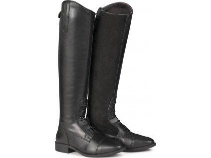 Jezdecké boty Portland ELT, úzké, černé