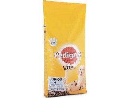 Granule pro psy Dry Junior s kuřecím a rýží Pedigre, 15kg
