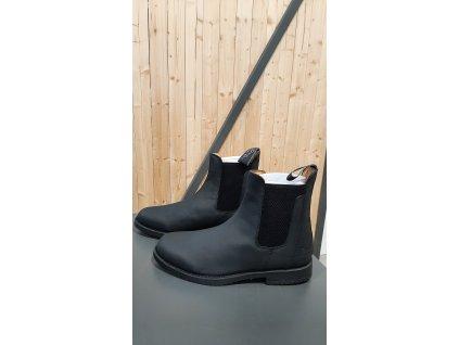 Jezdecká pérka kožená Equicomfort, černá