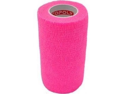 Bandáž samolepicí CoPoly, 10cm x 4,6m, pink, 1ks