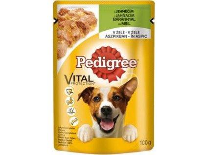 Kapsička pro psy Pedigree Adult, jehněčí v želé, 100g