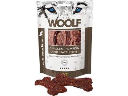 Pochoutka pro psy large chicken, pumpkin, oats bone WOOLF, 100g