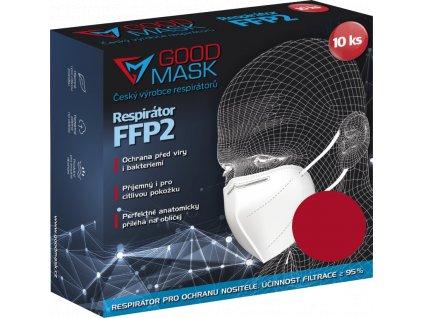 Respirátor FFP2 GOOD MASK, 10ks, red