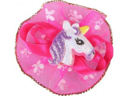 Ozdoba do hřívy Unicorn QHP, pink