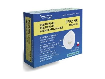 Respirátor FFP2 s ventilem Premium, 6ks