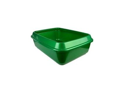 Toaleta pro kočky Sum plast, 44x33x11cm, green
