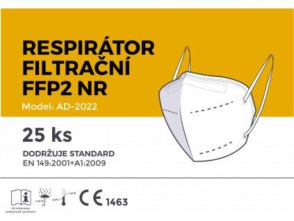 Respirátor filtrační FFP2 AD, 25ks, bílý