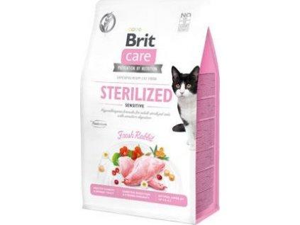 Granule pro kočky GF Sterilized Sensitive Brit Care, 0,4kg